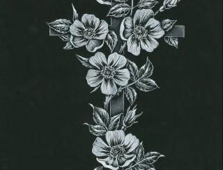 Cross and Wild Rose