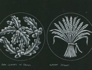 Oak Leaves Wheat Sheaf