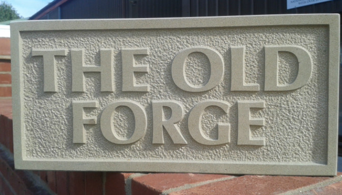 Stone Designed House Signs Service In Norfolk And